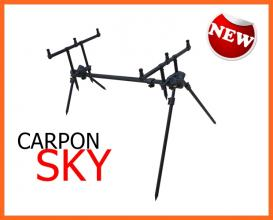 Carpon Sky 3 Botos Fekete Rod Pod