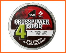 Dam Crosspower 4X Braid 150m 0,22mm Fonott Zsinór