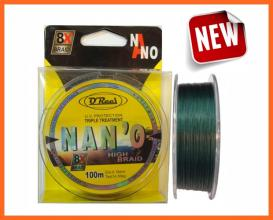 Q Reel 8X Nano High Braid 0.18mm 14,5kg, Fonott Zsinórok