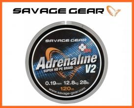Savage Gear Adrenaline Braid 0,13mm 120m, Fonott Zsinórok